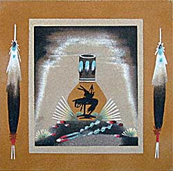 Jeanette Johnson | Navajo Sandpainter | Penfield Gallery of Indian Arts | Albuquerque | New Mexico