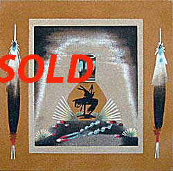 Jeanette Johnson | Navajo Sandpainting | Penfield Gallery of Indian Arts | Albuquerque, New Mexico