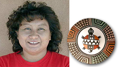 Sharon Lewis | Acoma Potter | Penfield Gallery of Indian Art | Albuquerque | New Mexico