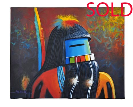 Jack Black | Navajo Longhair Kachina Painting | Penfield Gallery of Indian Arts | Albuquerque, New Mexico