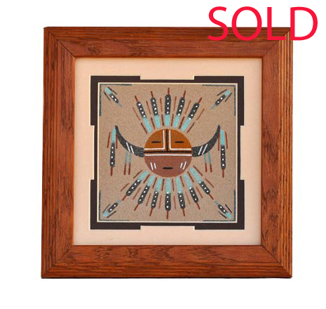 Lehi Benally | Navajo Sandpainting | Penfield Gallery of Indian Arts | Albuquerque, New Mexico