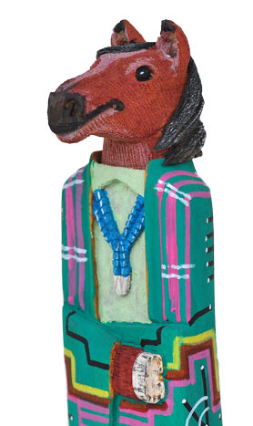 Marvin Jim | Navajo Folk Art Wolf | Penfield Gallery of Indian Arts | Albuquerque, New Mexico