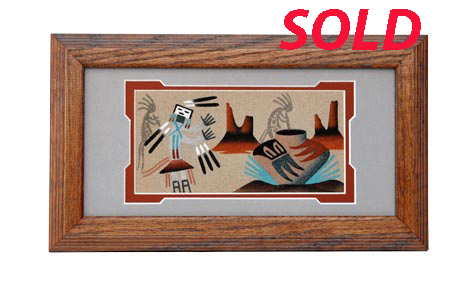 Pauline Yazzie | Navajo Sandpainting | Penfield Gallery of Indian Arts | Albuquerque | New Mexico