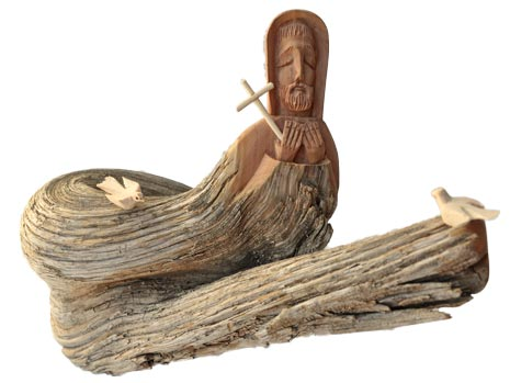 Ricardo Salazar | Saint Francis Wood Carving | Penfield Gallery of Indian Arts | Albuquerque, New Mexico