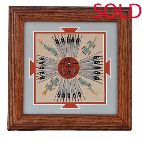 Tracy Bryant | Navajo Sandpainting | Penfield Gallery of Indian Arts | Albuquerque, New Mexico